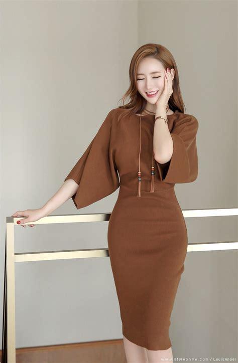 Dress Brukat Phing Phing 슬림 나그랑 울니트 원피스 dress 패션 럭셔리 v 224 여성 의류