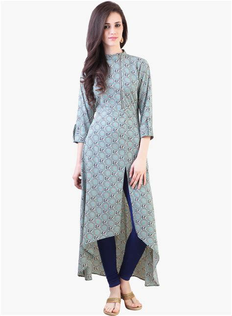 design house kurta online buy libas blue printed kurta for women online india best