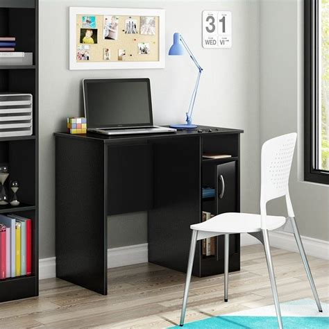 south shore furniture axess small desk royal cherry south shore axess small desk in pure black 7270075