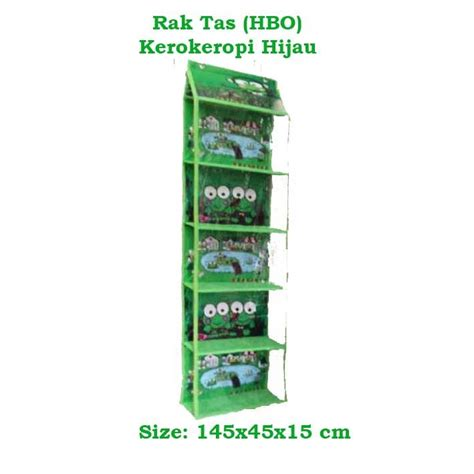 Rak Sepatu Gantung Retsleting hbo keroppi hijau hanging bag organizer rak tas gantung
