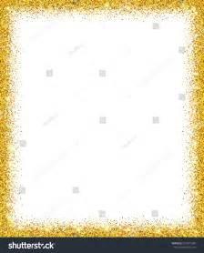 glitter template gold glitter background gold sparkle frame stock vector