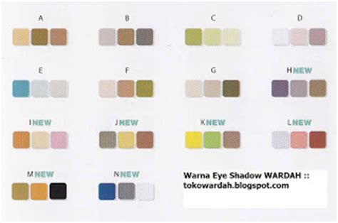 Warna Eyeshadow Wardah Seri I info kosmetik wardah eye shadow