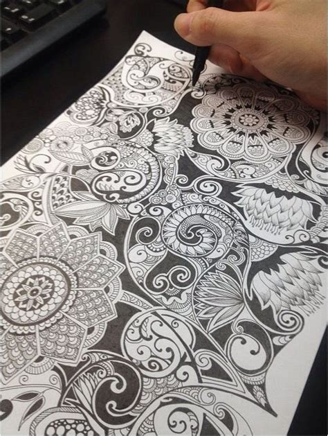 zentangle pattern sson wish i could doodle like this zentangle pinterest