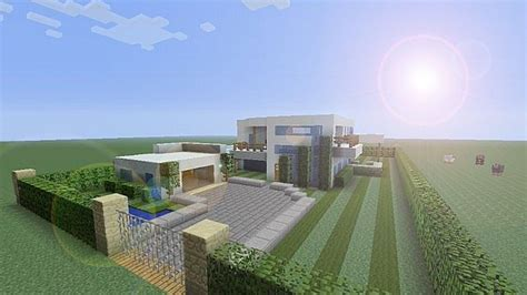 minecraft house design xbox 360 an ultra modern mansion w garden and pool minecraft project