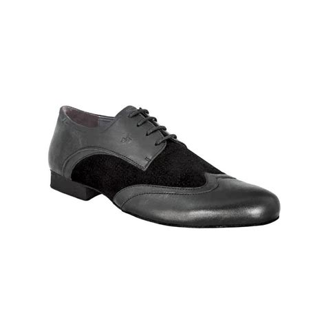 salsa shoes mens mens shoe in black nappa leather and suede trim