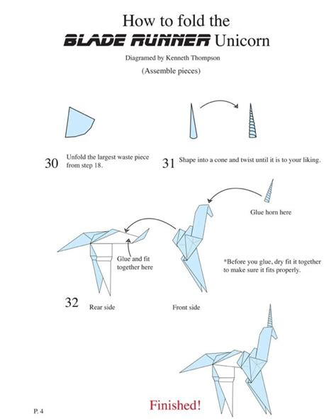 Origami Blade Runner - 1000 images about how to make gaff s unicorn origami from