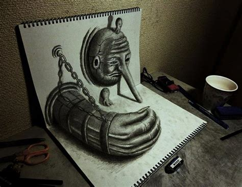 3d sketch amazing collection of 3d pencil drawings