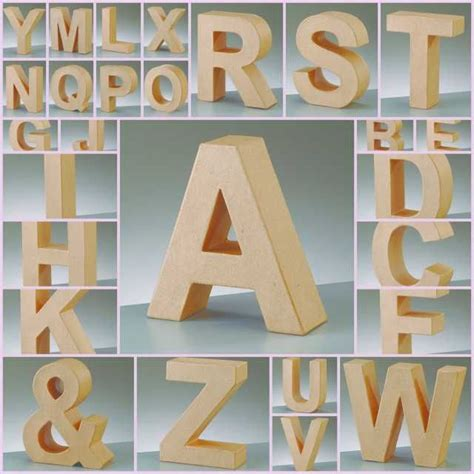Make Paper Mache Letters - paper mache large cardboard letters signs 3d craft 17