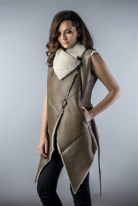 light brown vest womens sheepskin vest designed for