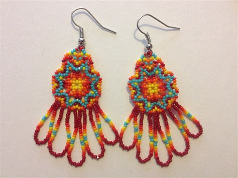 beaded earrings handmade american beaded earrings