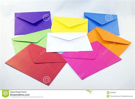 colored envelopes colored envelopes stock photography image 3049622