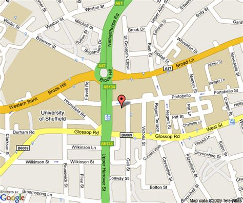 map location how to find us hri the of sheffield