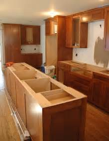 how to install kitchen island cabinets cabinet and countertop installation part 14 of our real