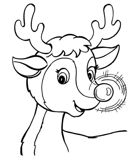 Free Coloring Page Of Rudolph The Red Nosed Reindeer | rudolph the red nosed reindeer coloring page az coloring