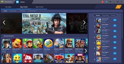 bluestacks for android bluestacks the android emulator for pc home media portal