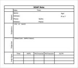 soap note template soap note template 7 free documents in pdf