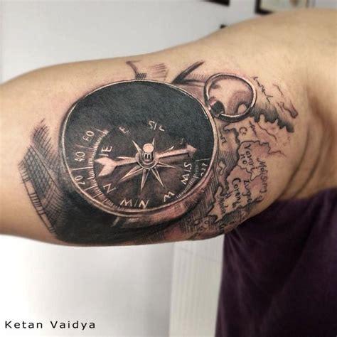 best 3d tattoos 29 best 3d compass images on