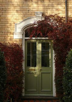 Farmhouse Front Door Exterior Pinterest Front Doors Olive Green Front Door