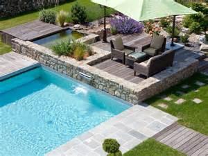 piscine bois escalier interieur la piscine paysag 233 e par l esprit piscine piscine 6 x 5 m