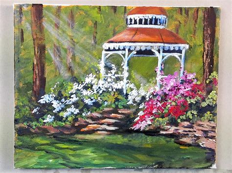 gazebo artist the gazebo part 1 of 5 acrylic painting lessons for