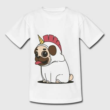 pug in unicorn costume shop pug t shirts spreadshirt