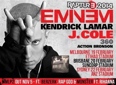 eminem rapture tour australia final ticket release for eminem s rapture tour the dwarf