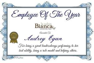 Employee Of The Year Certificate   Template Update234.com