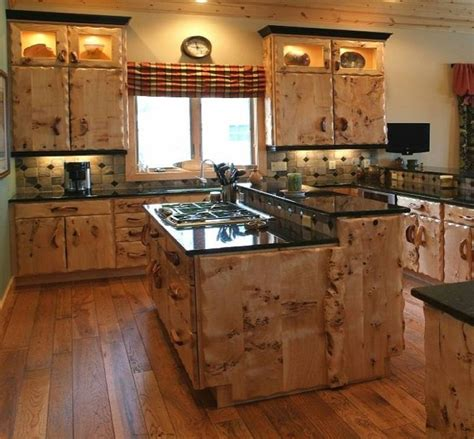 Cabin Design Ideas by Unique Rustic Unusual Kitchen Cabinets Design And Island