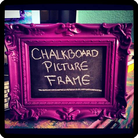 Tutorial Diy Chalkboard Picture Frame Diy Craft Riot