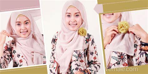 Jilbab Segi Empat Dan Cara Pemakaiannya cara pakai jilbab segi empat plus kreasi bros cara