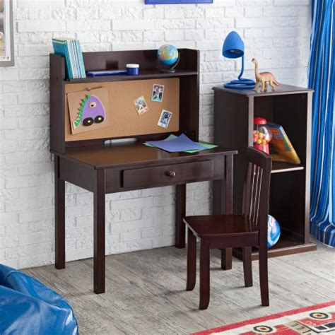 childrens desks with hutch kidkraft pinboard desk with hutch chair 27150
