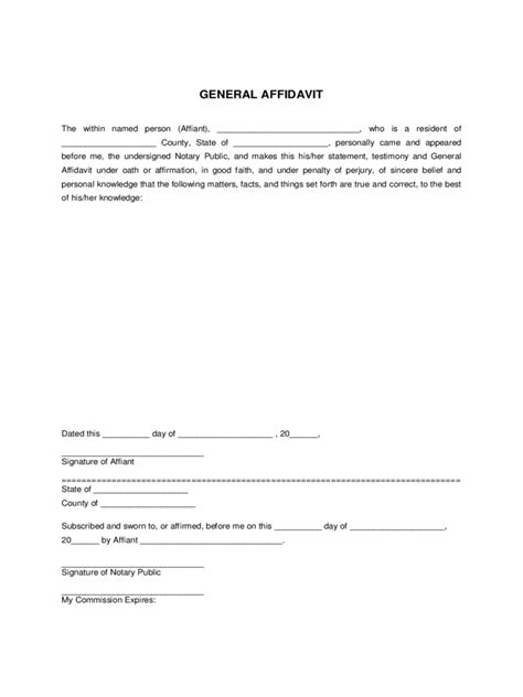 general affidavit 8 free templates in pdf word excel