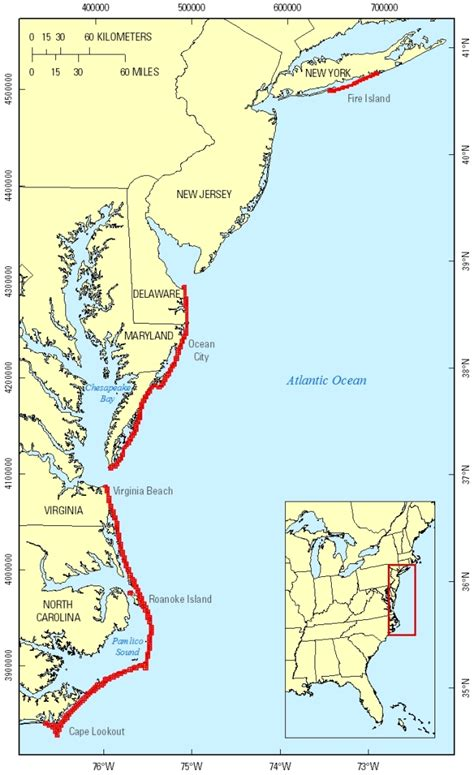 map us atlantic coast coastal topography northeast atlantic coast post