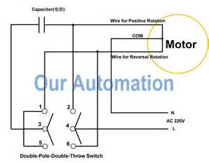how to replace dpdt switch with remote controller to ac motor our automation