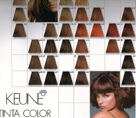 keune colour chart brown hairs of keune hair color