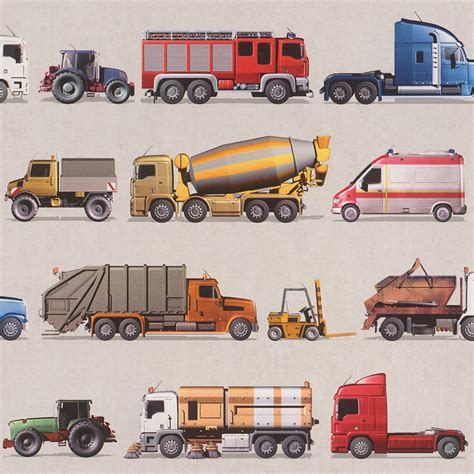 Transport and vehicles themed wallpaper amp borders bedroom feature wall decor ebay