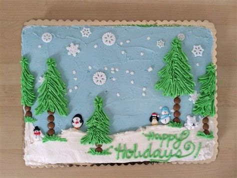 sheet cakes christmas decorated pictures winter sheet cake winter cakes sheet cakes and