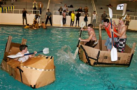 cardboard boat building rules asme and sme hosted cardboard boat competition alfred state