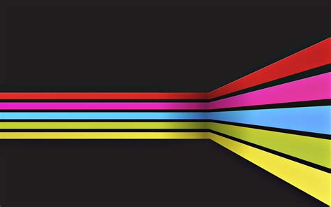 wallpaper yellow pink blue red pink blue and yellow lines against black abstract