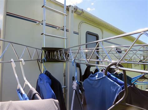 stromberg carlson extend a line rv mounted drying rack