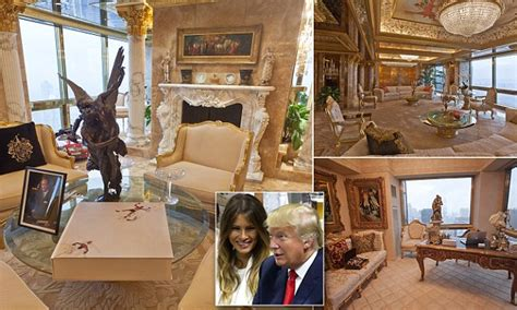 inside trumps penthouse donald trump s 100m new york city penthouse in pictures daily mail online