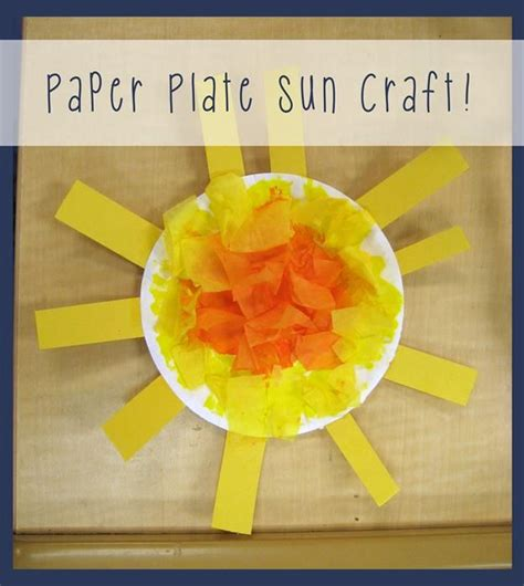 Paper Plate Sun Craft - 25 best ideas about sun crafts on weather