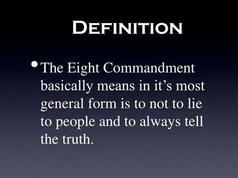 definition borne false witness ppt demand the eighth commandment thou shalt not bear