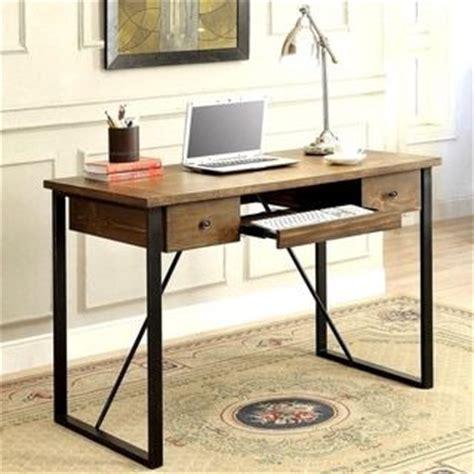 coaster company cappuccino writing desk schevron mid century industrial rustic design home office