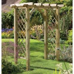 Buy Pergola Kit by Sturdy Square Top Wooden Garden Rose Arch Pergola