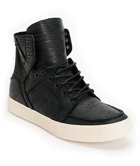 supra skymoc black leather shoes at zumiez pdp