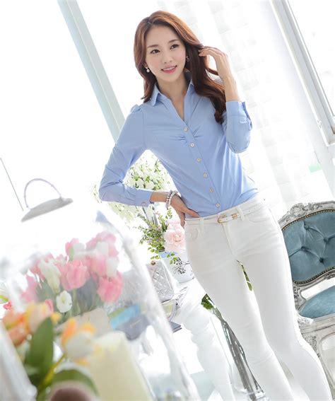 Kemeja Volvo Blue White Diskon kemeja kerja wanita bl3096 sky blue tamochi