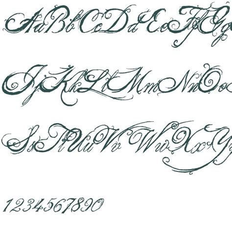 tattoo fonts names cursive tattoo font generator cursive tattoo collections