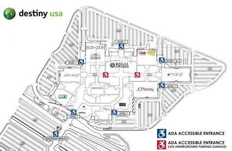 destiny usa map help destiny usa