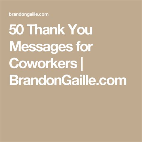 51 thank you messages for coworkers messages 50th and